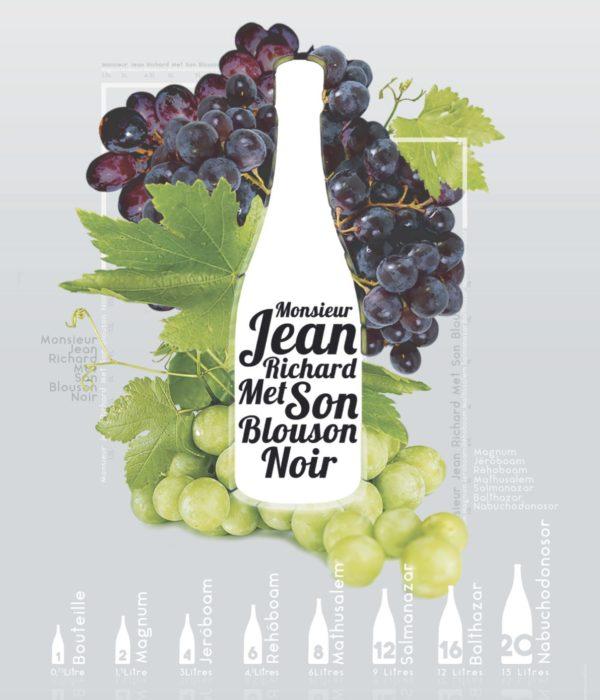 Le nom et la taille des bouteilles de vin - Monsieur Jean Richard Met Son Blouson Noir