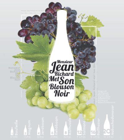 Affiche nom taille bouteilles vin